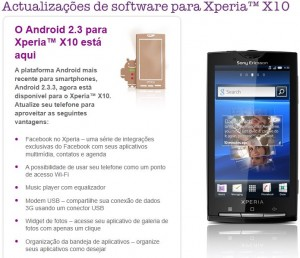 Android 2.3 Xperia X10